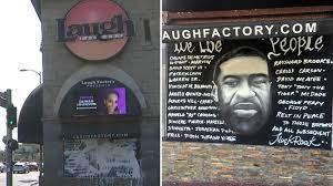 George Floyd mural at Laugh Factory ...