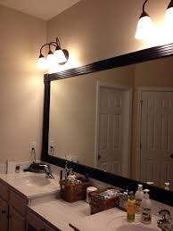 framed bathroom vanity mirrors. Framed Bathroom Vanity Mirrors Grey Wall Cabinets Modern White Kitchen Design Mounted Cast Iron Sink