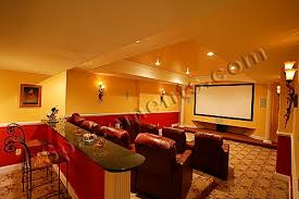 basement home theater room. finished basement design and remodeling projects by spacements, inc. home theater room