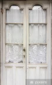 wood and glass door sticker pixers