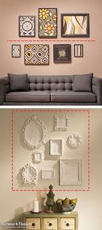 frame hanging tips if you have a generous amount of horizontal wall space draw an imaginary line on your wall and place artwork above and below the line
