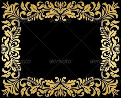 Vintage Gold Frame with Floral Elements by VectorTradition
