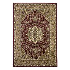 kas rugs classic medallion red beige 10 ft x 13 ft area rug