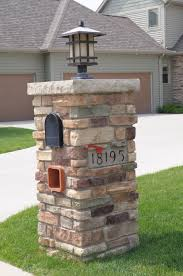 stone mailbox. Fully Stoned Mailbox Anagnos Laytite With 5x16 Engraved Address Block JN Stone