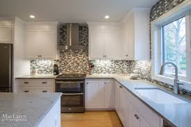 Granite Island Kitchen Transitional Granite And Quartz Grey Scale Kitchen Villanova Pa