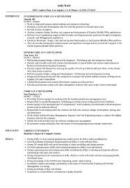 Java Developer Resume Java Developer Sample Resumes Incepimagine