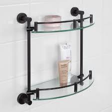 bathroom tempered glass shelf: bristow tempered glass shelf two shelf