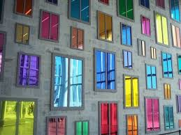 many indian colored mirror glass