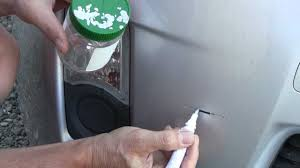 how to use a touch up paint pen per paint scratch repair on a toyota prius you