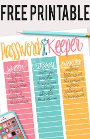 Password Log Password Log Feminine Design Free Printable