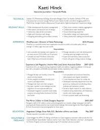 Interests Resume Examples