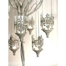 hanging candle holder antique metal set of sconces gem pillar chandelier