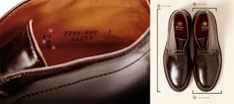 Alden Shoe Size Chart Fit Size Guide Brick Mortar
