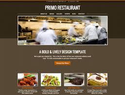 Restaurant Website Templates New Restaurant Website Design Templates