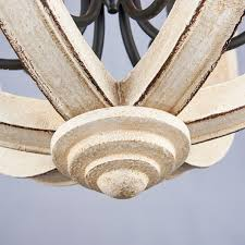vintage distressed white wooden globe chandelier cottage 6 light pendant lamp