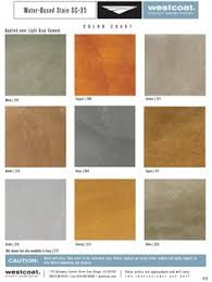 Westcoat Epoxy Color Chart 13 Best Water Based Concrete Stain Color Charts Images