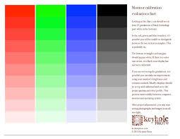 Color Calibration Chart Monitor Calibration Evaluation Chart Keyhole Photo