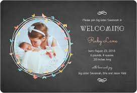 Sibling Birth Announcement Soft Pink Photo Sibling Birth Announcement Birth Announcements