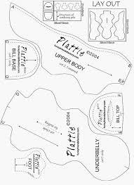 Animal Sewing Patterns Cool Free Sewing Pattern Soft Toy Platypus