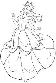 Disney Princess Belle Colouring Pictures
