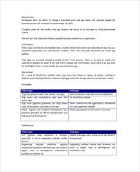 Mobile App Business Plan Template Pdf Business Plan Template For App