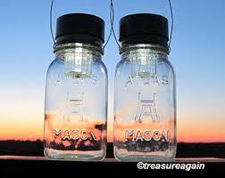 multi color outdoor solar jar design. Hazel Atlas Solar Mason Jar Lanterns Square Antique Clear Glass Hanging Lights, Outdoor Garden Multi Color Design