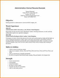 Excellent Clerical Work Resume Examples Contemporary Entry Level