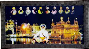 singh suppliers golden temple amritsar and 10 sikh gurus religious frame