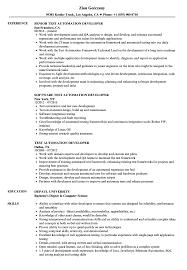 Testing Sample Resumes Test Automation Developer Resume Samples Velvet Jobs 55