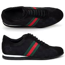 gucci shoes for men black. gucci 50800 classic black mesh stripes men\u0027s sneakers shoes for men