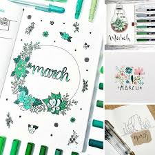 art cover page ideas bullet journal march cover page ideas on we heart it