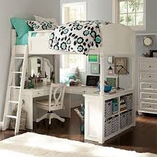 Teen girl's bedroom with vanity loft bunk bed set. Great little study and  getaway area for a teen. I have wanted a bunk bed/loft for ever!