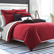 red nautica bedding