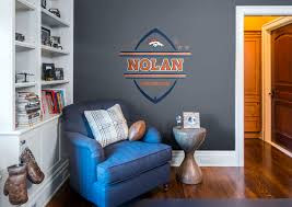 denver broncos personalized name fathead wall decal