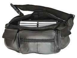 leather pack belt waist pouch hip travel purse large mens womens black new