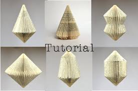 diy tutorial patterns for 6 diffe book sculptures instant folded book artbook