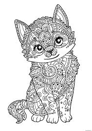 Coloriage Chat Mignon Chaton Adulte Dessin