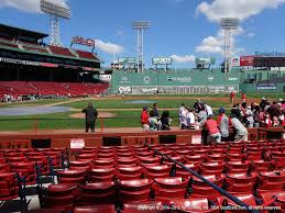 Fenway Park Football Seating Chart Fenway Park View From Field Box 33 Vivid Seats