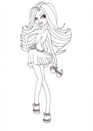 Small Picture Free Printable Monster High Coloring Pages Spectra Fashion 2012
