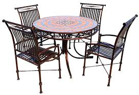 metal and tile top patio dining table