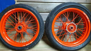 ktm 125 exc supermoto wheels excell rims in llanelli