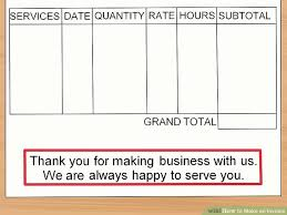 How To Make A Fake Invoice Mesmerizing How To Make An Invoice With Sample Invoices WikiHow