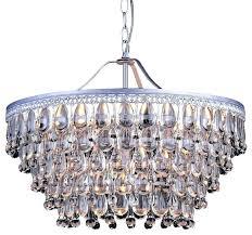 elements crystal teardrop 1 light mini chandelier 6 sparkle brushed oak chand