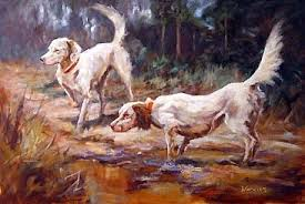 Dogs - Painting Art by Peggy Watkins