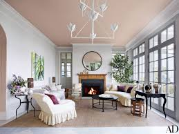 Eclectic home office alison Gray Interior Design Blogs Ceiling Paint Ideas And Inspiration Architectural Digest