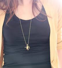 golden bear trap pendant movable fully functions brass metal work necklace designer september room i