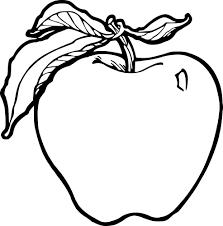 Coloriage La Pomme Imprimer