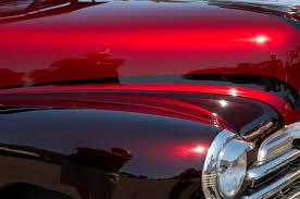 red maroon custom car at pinehurst mobile