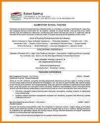 7+ Resume Samples For Teaching | Applicationleter.com