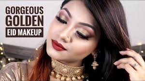 gorgeous golden eid makeup tutorial 2018 night look bronze party